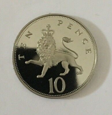 1985 Proof Large Size Ten Pence Coin Unc Uncirculated BU 10p