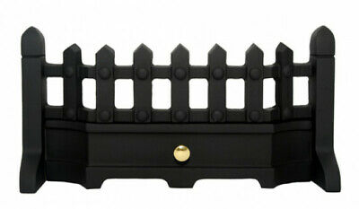 Black Classic Fret 16 or 18 Inch Solid Fuel Fret Gas Fret Fireplace Fret Front