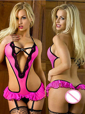 Sexy Bed Time Sexy Lingerie Hot Dress Underwear Backless Lace Set Erotic