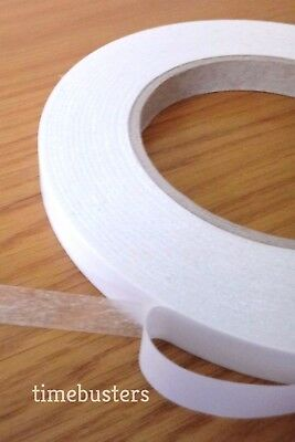 6mm, 12mm Sticky Self Adhesive Double Sided Tissue Tape 50m Rolls High Tack