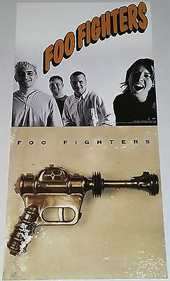 """FOO FIGHTERS 2 FLATS 12"""" PROMO POSTER dave grohl Gun lp punk grunge nirvana 45"""