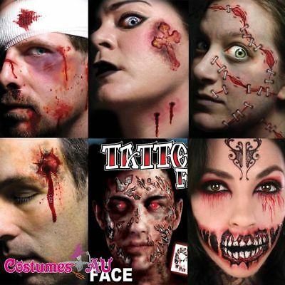 Halloween Scary Party Temporary Face Tattoo Costume Accessory Sticker