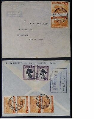 RARE 1948 Belgian Congo Airmail Cover ties 8 stamps canc Costermansville