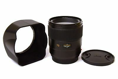Leica Summarit-S 1:2.5 70mm ASPH. Objective For s System with Covers e Lens hood