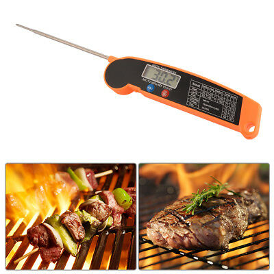 Digital Food Meat Thermometer Foldable Stainless Steel Probe Kitchen Cook BI806