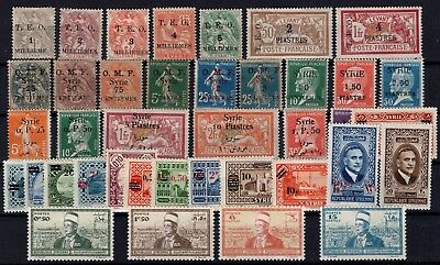 P45001/ Syrrie Francaise / French Syrria / Lot 1919 – 1942 Mh / Unused (*) 101 €