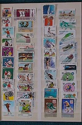Thematic - 40 Sport stamps for your collection, none have stamp hinge marks