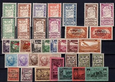P45002/ Syrrie Francaise / French Syrria / Lot 1921 – 1945 Mh 139 €