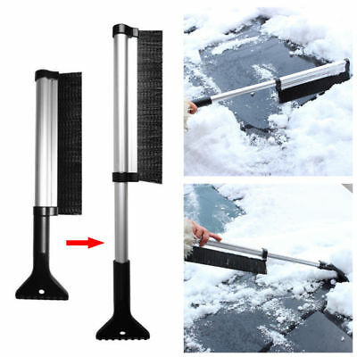 Adjustable Car Snow Brushes Soft Bristle Snow Windshield Removal Cleaning Tool