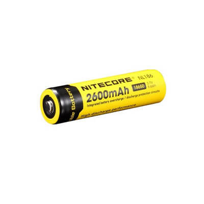Nitecore 2600mAh 18650 Li-ion Rechargeable Battery