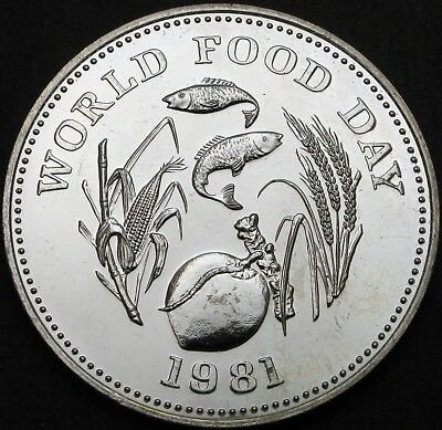 PHILIPPINES 25 Piso 1981 - Silver - FAO World Food Day - aUNC - 897 ¤