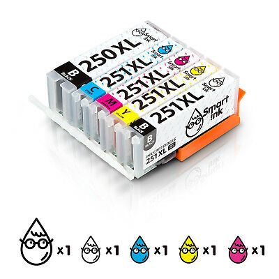 Smart Ink Compatible Ink Cartridge Replacement Canon PGI 250 XL CLI 251 XL