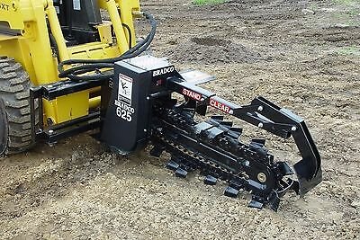 """Skid Steer Trencher by Bradco,625 Digs 48"""" Deep,6"""" Wide,2 Position,Ship Same Day"""