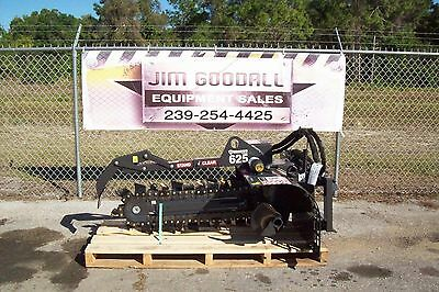 """Skid Steer Trencher by Bradco,625 Digs 36"""" Deep,6"""" Wide,50/50 Rock Teeth Extreme"""
