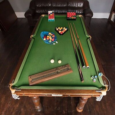 Single Slate Snooker or Pool table with all accessories.