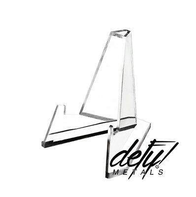 Clear Acrylic Air-Tite Coin Poker Chip Challenge Display Stand Easel Lot Qty 5!