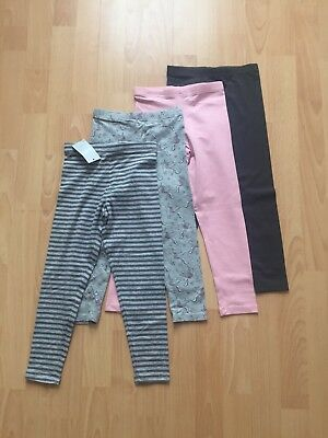 4 Pairs Girls Leggings New With Tags Age 6