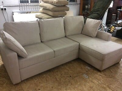 Beige Right Hand Corner Sofa Bed Storage VGC Can Deliver