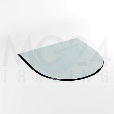 Glass Bottom Plate G1 in toughened 6 mm Spark Guard Mantelpiece Baseplate