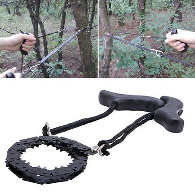Foldable Survival Chain Saw Emergency Hand Tool Pocket Chain Gear Garden Camping