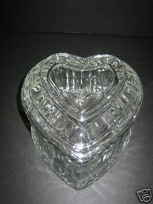 Heart Shaped, Clear, Designed Glass, Candy Dish !