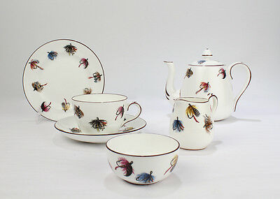 Crown Staffordshire Bone China Fly Fishing Single Tea Service - Cup Saucer - PC