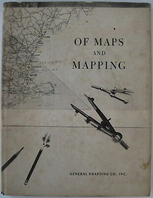 1959 1st Ed GENERAL DRAFTING COMPANY Book Making Road Maps Dust Jacket + Sphere