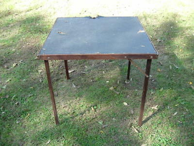 Vintage Antique 1925 Folding Card Table for Use or Repurpose
