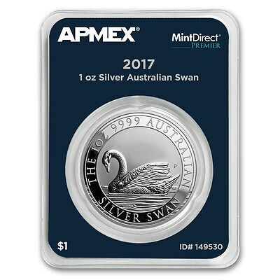 1 oz 2017 Australia Perth Mint .9999 Silver Swan BU (MintDirect® Premier Single)
