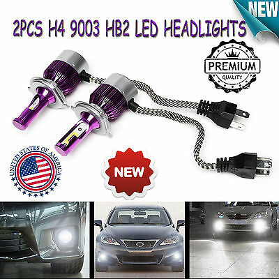 2xLED H4 DRL Headlight Car 12V Vehicle Upgrade Double Beam Conversion 200W Bulbs