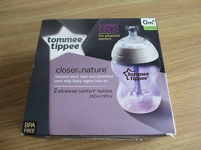 Tommee Tippee Closer to Nature® Advanced Comfort Bottles 2 x 260ml