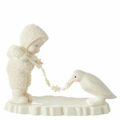 Snowbabies Stringing Garland Ornament Figure
