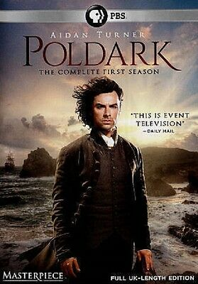 Poldark The Complete First Season DVD,  3-Disc Set Free Shipping.