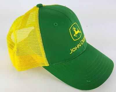 John Deere Hat Yellow Full Green Baseball Type Cool Mesh For Hot Days Breathable