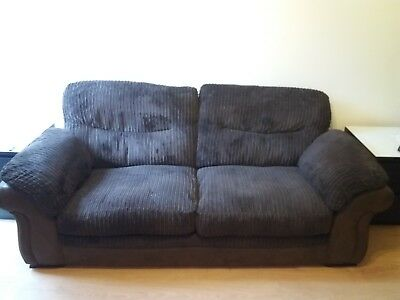 Collins and Hayes  2 seater Leather and fabric very large Sofa