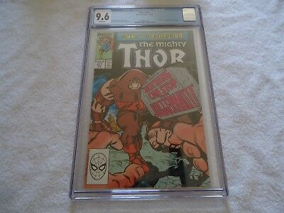Marvel Thor 411 Cgc 9.6 White Pages New Warriors Juggernaut Hulk Avengers