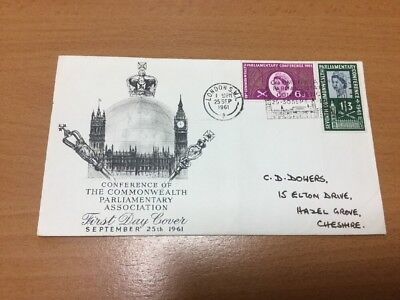 1961 Parliament First Day Cover Special Slogan Postmark Handwritten
