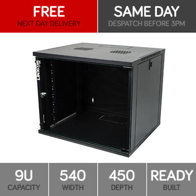 "9U 19"" Network Server Cabinet Rack Wall Mounted 540*450mm Data Comms Patch Panel"