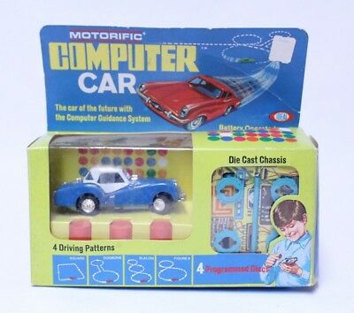 Nice Vintage Unused Ideal Motorific Computer Car Triumph Tr-3 Complete In Box