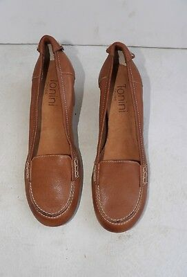 Vintage Style Brown Stacked Heeled Loafer Shoe (size 37)