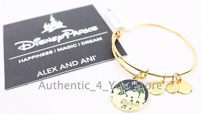 NEW Disney Parks ALEX AND ANI Haunted Mansion Singing Busts GOLD Bangle Bracelet