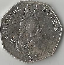 beatrix potter 50p Squirrel Nutkin 2016