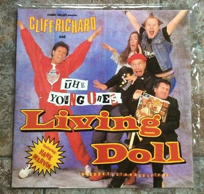 "Cliff Richard & The Young Ones Living Doll 12"" Vinyl 1986 RARE"