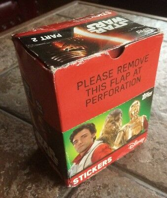 Topps Star Wars Stickers The Force Awakens Part II Box Of 50 Sealed Packets