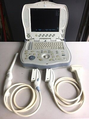 GE Logiq Book XP 2410786 Portable Ultrasound - 38C-RS/3C-RS Probes Included