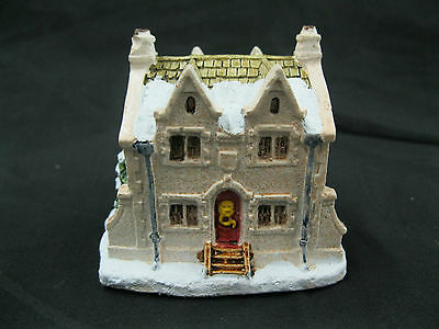 A Dickens Christmas Scrooge Home 1988 RSVP Vintage Miniature Cottage