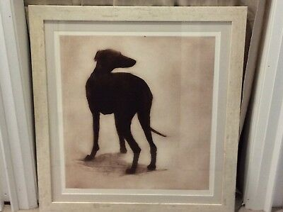 """Greyhound/Whippet etching""""Francesca""""by Helen Fay, UKartist,frame included"""