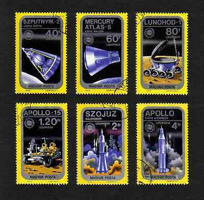 """Hungary 1975 """"Apollo-Soyuz"""" Space Link short set of 6 values used"""