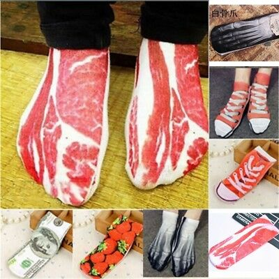 3D Retro Painting Art Sock Unisex Women Funny Novelty Night Low Cut Socks Gift