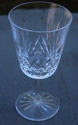 "Waterford Lismore Crystal Glass / Goblet - Water /  Wine ~ 7"" Tall"